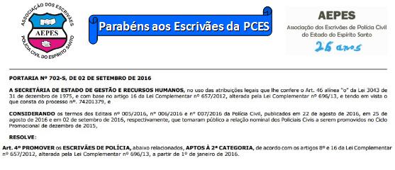 Escrivães promovidos: Diário Oficial publica lista, confira!