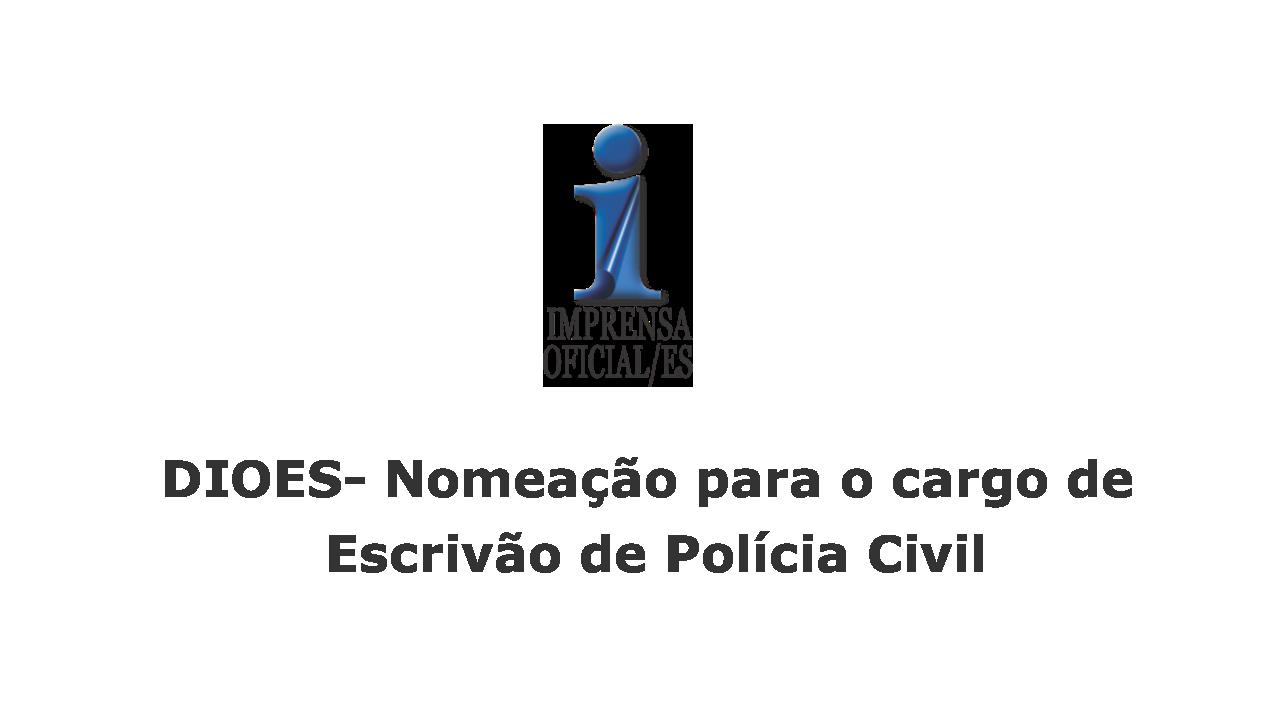 Nomeação para o cargo de Escrivão de Polícia Civil, Decreto 866