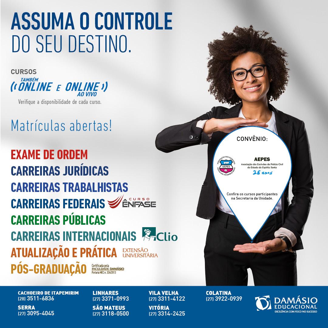CONVÊNIO COM O DAMÁSIO EDUCACIONAL